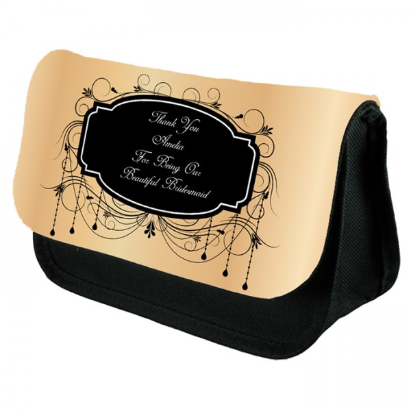 Add Your Message to This Personalised Make Up Bag Perfect Gift Idea for Her. Wedding Favours Birthdays Christmas.