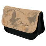 Vintage Butterfly's Personalised Make Up Bag Perfect Gift Idea for Her. Wedding Favours Birthdays Christmas.