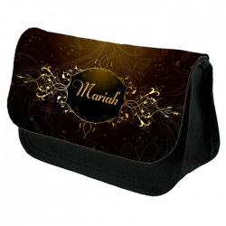 Aged Looking Border Make up bag Personalised Make Up / Cosmetic Bag