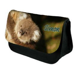 Koala Bear Personalised Make Up / Cosmetic Bag / Pencil Case For School Great Fun Gift