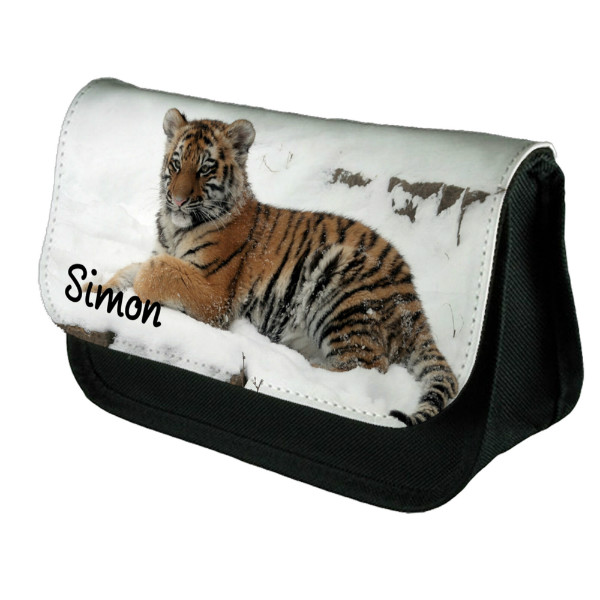 Baby Tiger Personalised Make Up / Cosmetic Bag / Pencil Case For School Great Fun Gift