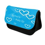 A Pretty Hearts Personalised Make Up Bag Perfect Gift Idea for Her. Birthdays Christmas gift idea.