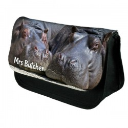 Hippos Personalised Make Up / Cosmetic Bag / Pencil Case For School Great Fun Gift