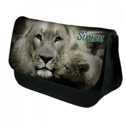 Lions Personalised Make Up / Cosmetic Bag / Pencil Case For School Great Fun Gift