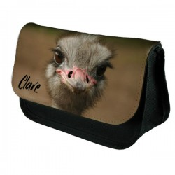 Ostrich Personalised Make Up / Cosmetic Bag / Pencil Case For School Great Fun Gift
