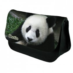 Panda Personalised Make Up Bag Perfect Gift Idea for Her. Birthdays Christmas.