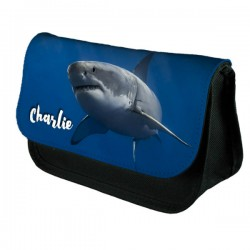 Great White Shark Pencil case, Personalised With Any name