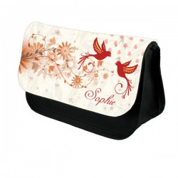 Pretty Bird Design Make up bag. Unusual Design Make Up / Cosmetic Bag