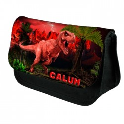T-Rex Dinosaur Personalised Pencil case, Bag. School Kids Gift Idea.