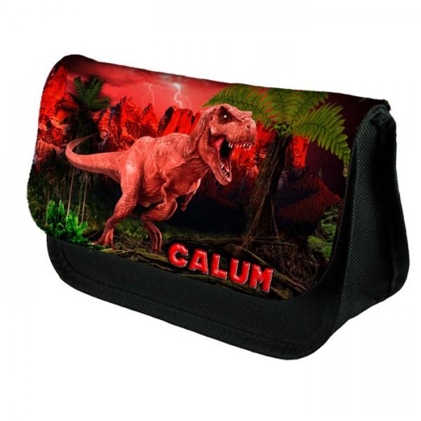 T-Rex Dinosaur Personalised Pencil case, Bag. School Kids Gift Idea.