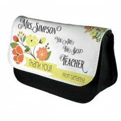 Thank you gift Personalised Make Up Bag Perfect Gift Idea for Teachers.