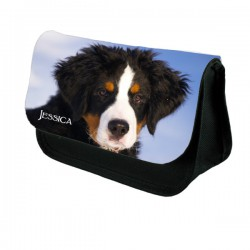 Cute Mountain Dog Personalised Make Up / Cosmetic Bag / Pencil Case For School