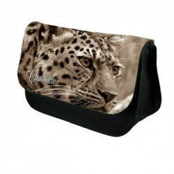 Leopard Big Cat Personalised Make Up / Cosmetic Bag / Pencil Case For School
