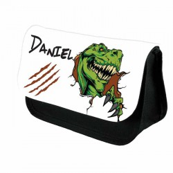 T Rex Dinosaur Personalised Make Up / Cosmetic Bag / Pencil Case For School