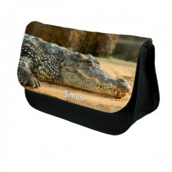 Crocodile Personalised Make Up / Cosmetic Bag / Pencil Case For School