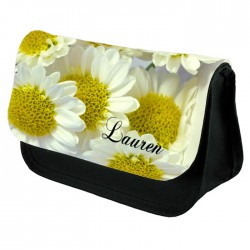 Bright Daisy Make Up Bag Personalised / Cosmetic Bag Perfect Gift Idea for Her. Favours Birthdays Christmas.