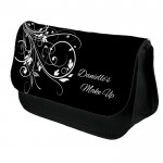 Black & White Scrolls Make Up Bag Personalised / Cosmetic Bag Perfect Gift Idea for Her. Favours Birthdays Christmas.