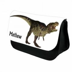 Dinosaur T-Rex Personalised Pencil Case For School