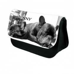 Cute Dog Personalised Make Up / Cosmetic Bag / Pencil Case For School