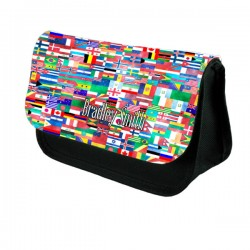 World Flags Make Up / Cosmetic Bag / Pencil Case For School