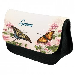 Butterfly Make Up Bag Personalised / Cosmetic Bag Perfect Gift Idea for Her. Favours Birthdays Christmas.