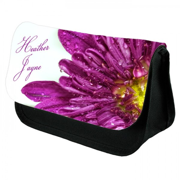 Large Flower Design Personalised Make Up Bag Perfect Gift Idea for Her. Favours Birthdays Christmas.