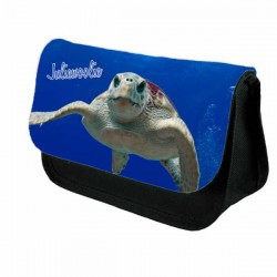 Cute Turtle Personalised Pencil Case / Make Up Bag. Birthday / Christmas Gift Idea
