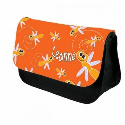 Cute Cartoon Dragon Fly Personalised Pencil Case / Make Up Bag. Birthday / Christmas Gift Idea
