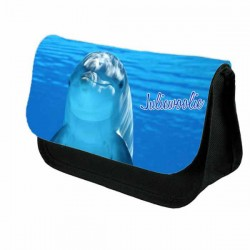 Cute Dolphin Pencil Case / Make Up Bag. Birthday / Christmas Gift Idea