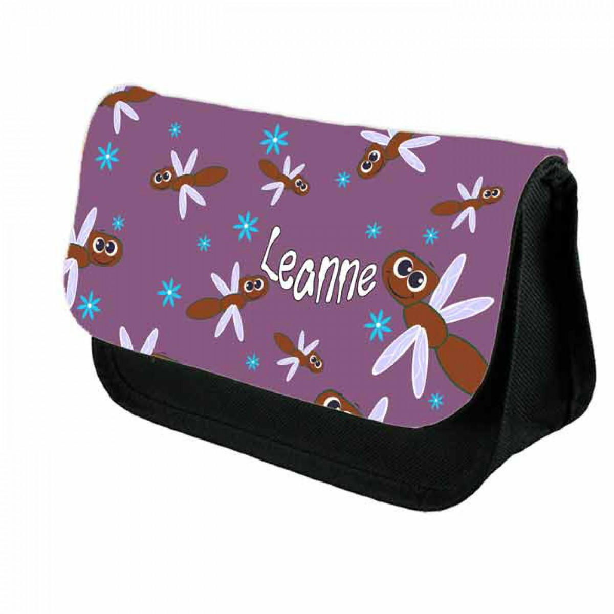 Cute Cartoon DragonFly Personalised Pencil Case Make Up Bag