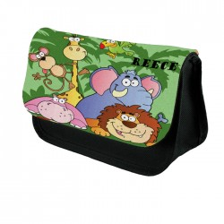 Jungle Animals Pencil Case, Perfect Gift Idea For Birthdays Christmas. School
