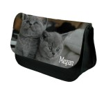 Cute Cats / Cute Kittens Personalised Make Up / Cosmetic Bag / Pencil Case For School