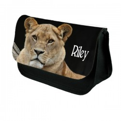 Lioness Personalised Make Up / Cosmetic Bag / Pencil Case For School
