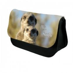Meerkat Personalised Make Up / Cosmetic Bag / Pencil Case For School