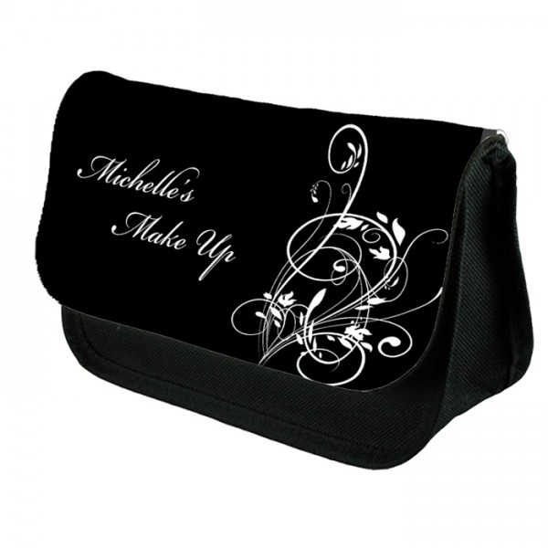 Black & White Wedding Favour Make Up Bag Personalised / Cosmetic Bag Perfect Gift Idea for Her.