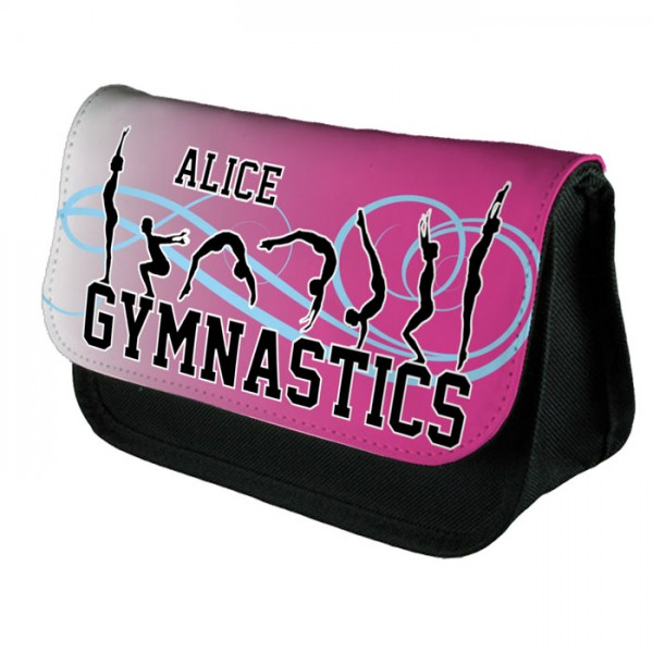 Personalised Gymnastic's ,Pink Tumble Make up case, Cosmetic bag, Pencil Case.