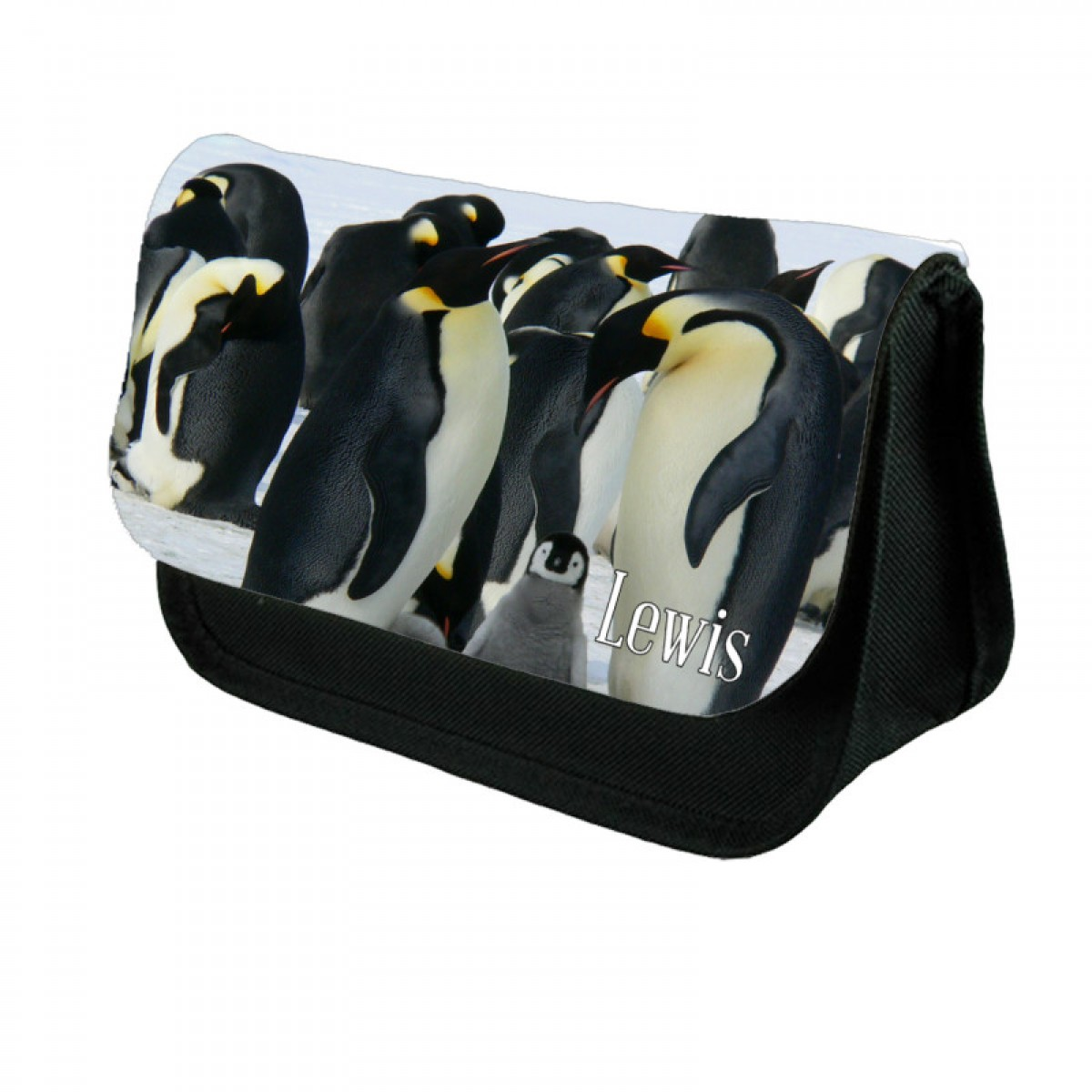 Cute Penguin Personalised Make Up / Cosmetic Bag / Pencil Case For School