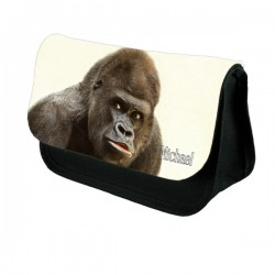 Silverback Gorilla Personalised Make Up / Cosmetic Bag / Pencil Case For School