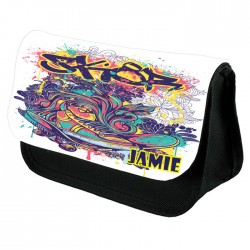 Skateboard SK8 Pencil Case,  Perfect Gift Idea for Birthdays Christmas, School