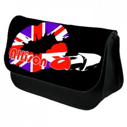 Union Jack Kiss Make Up Bag Personalised / Cosmetic Bag Perfect Gift Idea for Her. Favours Birthdays Christmas.