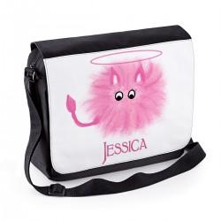 Cute Little Furby Personalised Gift Messenger / School / Sleepover Bag.
