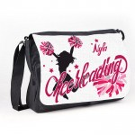 Cheerleader Personalised Gift Messenger / School / Sleepover Larger Bag.