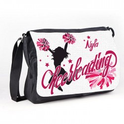 Cheerleader Personalised Gift Messenger / School / Sleepover Larger Bag.