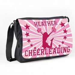 Cheerleading Star White Personalised Gift Messenger / School Teanager's Bag.