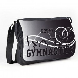 Gymnastic Tumble Black Personalised Gift Messenger / School / Sleepover Bag.