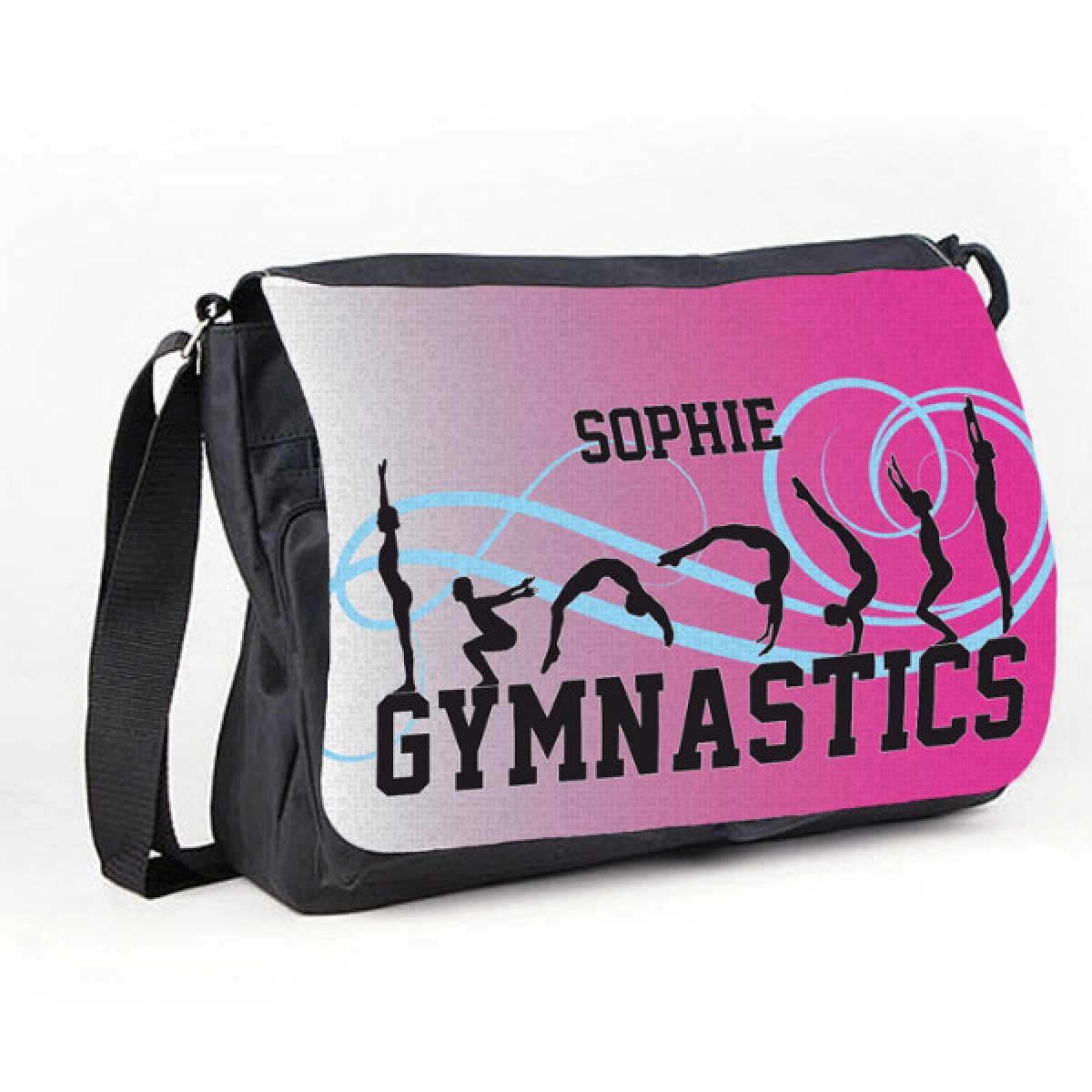 gymnastic tumble pink personalised gift messenger school