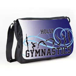 Gymnastic Tumble Purple Personalised Gift Messenger / School / Sleepover Bag.