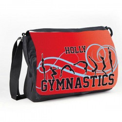 Gymnastic Tumble Red Personalised Gift Messenger / School / Sleepover Bag.