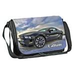 Ford Car design Personalised Gift Messenger / School / Sleepover Bag. Full Colour