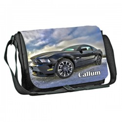 Ford Car design Personalised Gift Messenger / School / Sleepover Bag. Full Colour